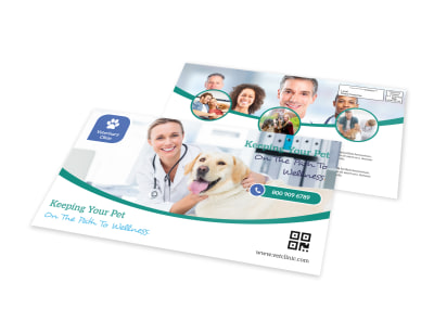 Veterinary Wellness EDDM Postcard Template preview