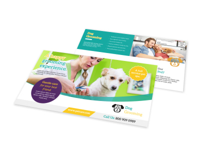 Grooming Service EDDM Postcard Template preview