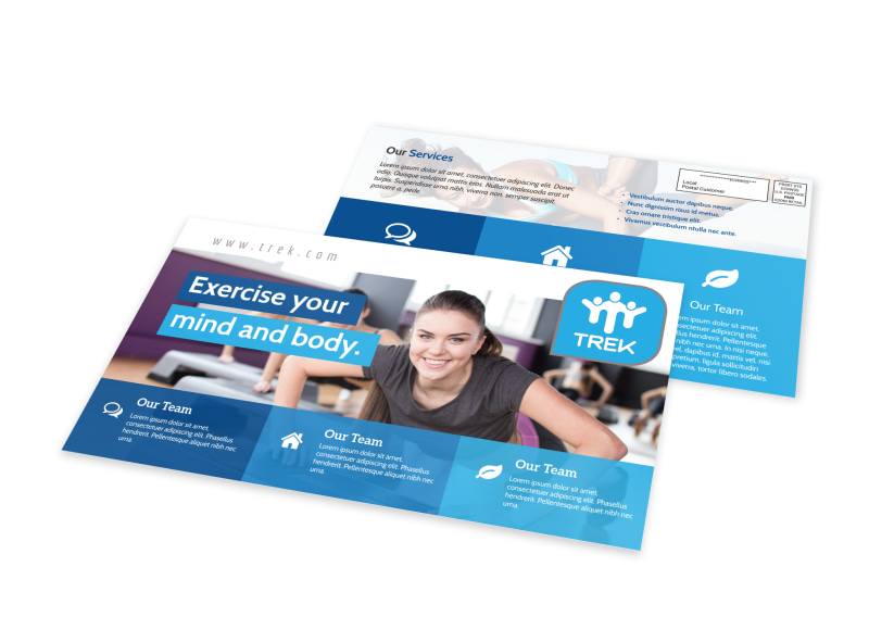 Mind & Body Fitness EDDM Postcard Template