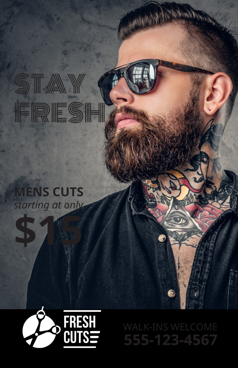 Barber Shop Poster Template Preview 2