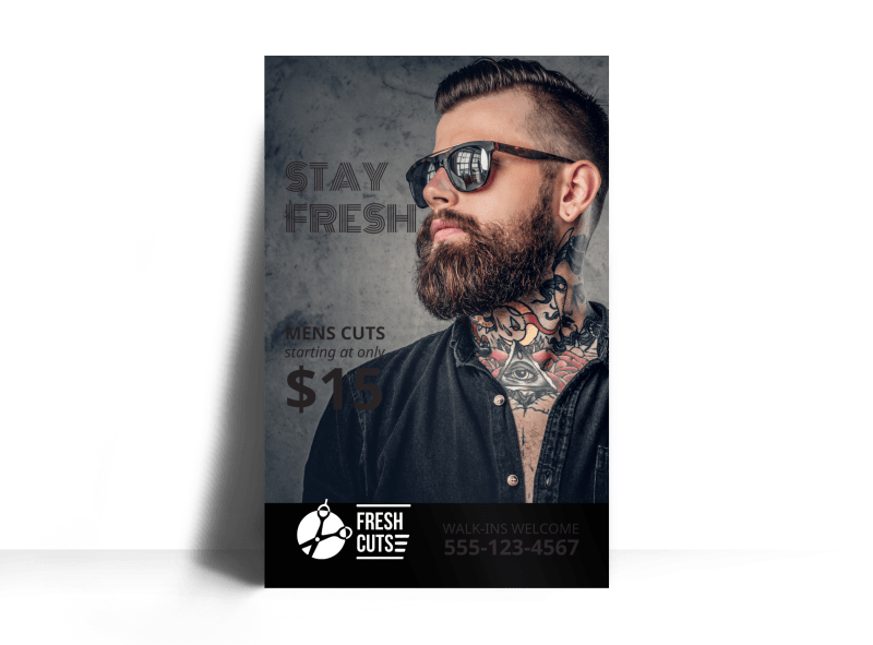 Barber Shop Poster Template Preview 1