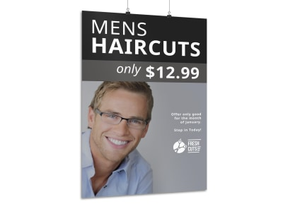 Men's Haircuts Poster Template preview