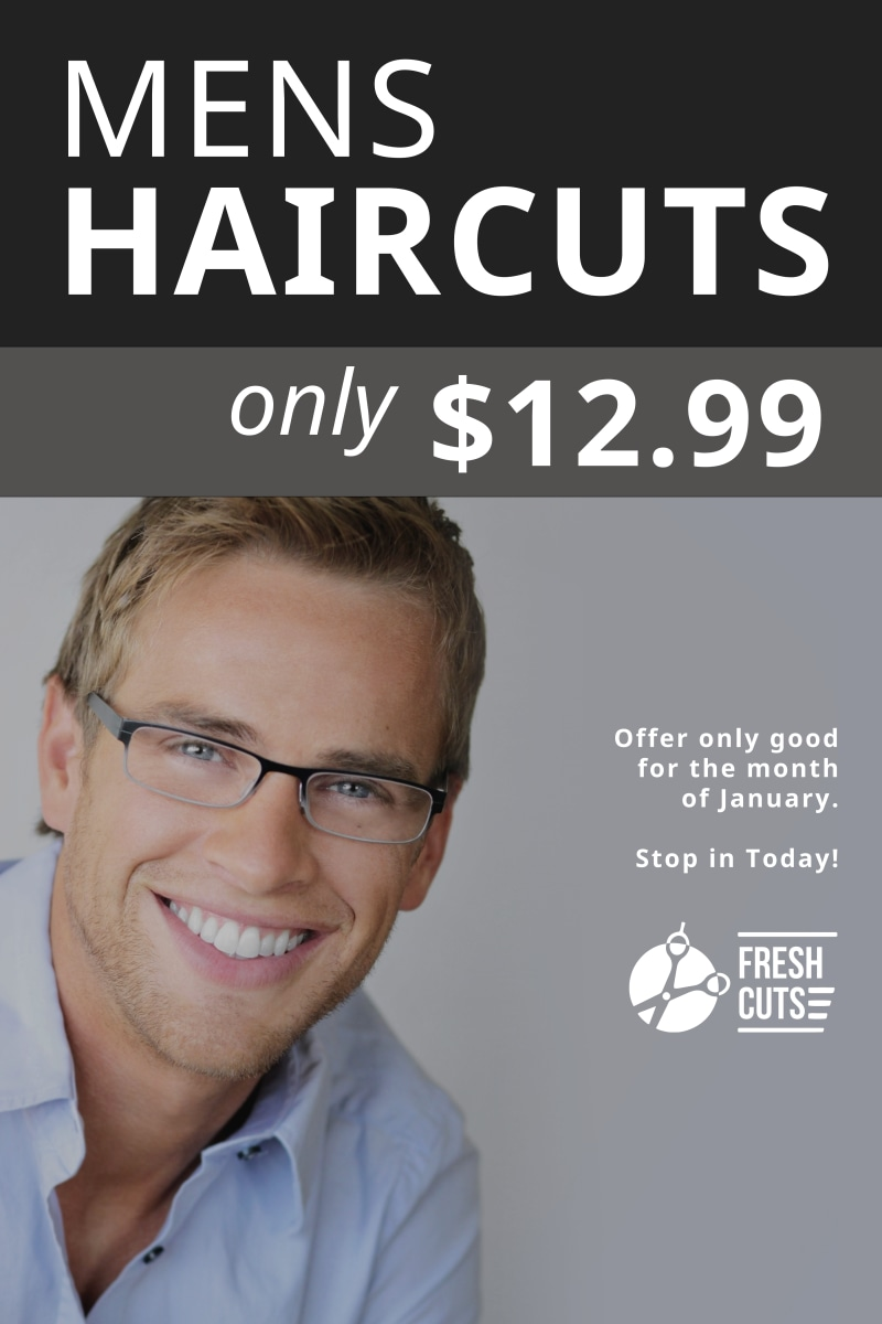 Mens Haircuts Poster Template Preview 2