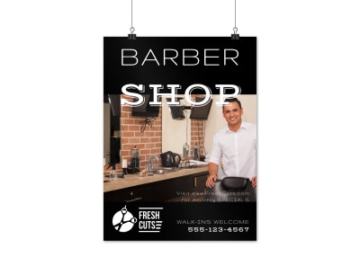 Classic Barber Shop Poster Template preview