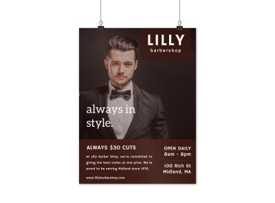Barber Shop Style Poster Template