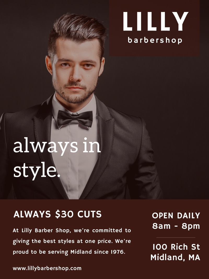 Barber Shop Style Poster Template Preview 2