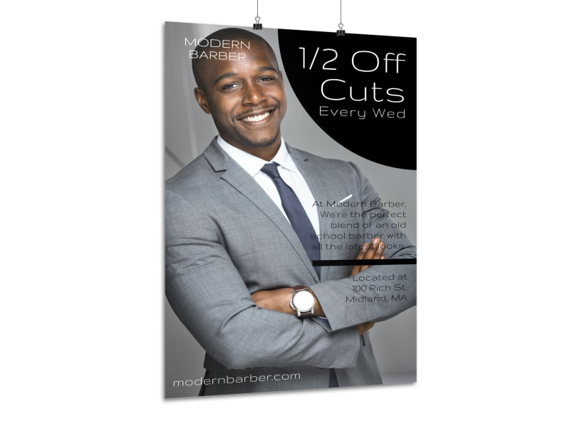 Barber Shop Promo Poster Template