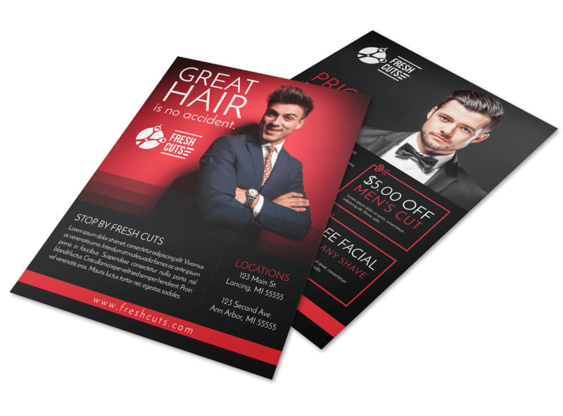 Barber Shop Price List Flyer Template Preview 4