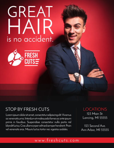 Barber Shop Price List Flyer Template Preview 1