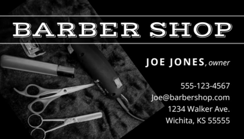 Classic Barber Shop Business Card Template Preview 2