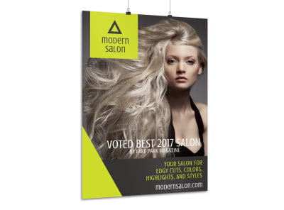 Modern Beauty Salon Poster Template