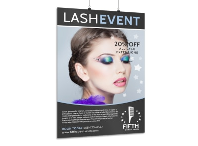 Lash Event Beauty Salon Poster Template preview