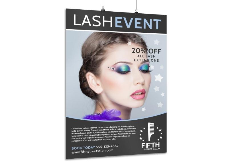 Lash Event Beauty Salon Poster Template