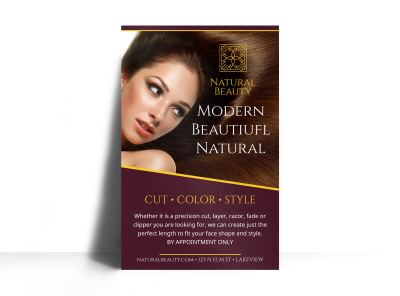 Classic Beauty Salon Poster Template