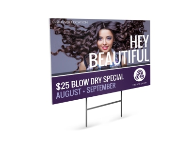 Special Beauty Salon Yard Sign Template preview