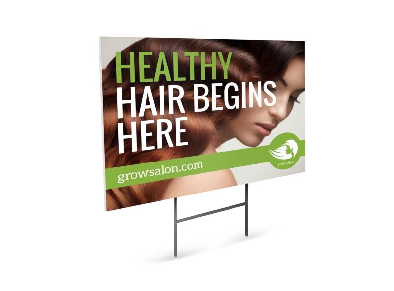 Healthy Hair Beauty Salon Yard Sign Template