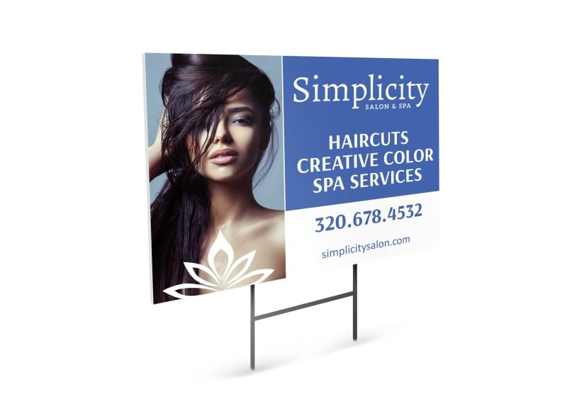 Simplicity Beauty Salon Yard Sign Template