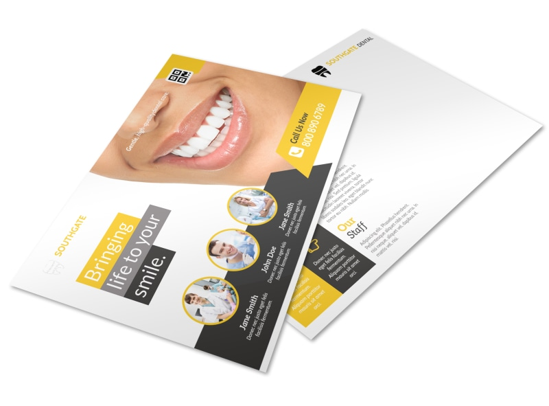 Dental Smile Postcard Template