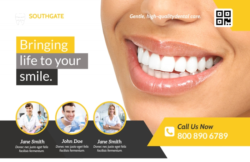 Dental Smile Postcard Template Preview 2
