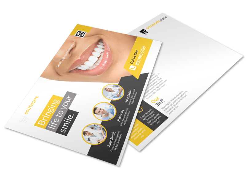 Dental Smile Postcard Template Preview 1
