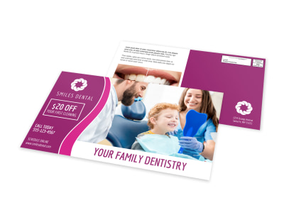Family Dentistry EDDM Postcard Template preview