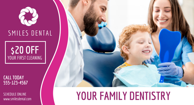 Family Dentistry EDDM Postcard Template Preview 2