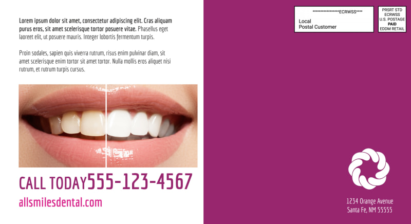 Family Dentistry EDDM Postcard Template Preview 3