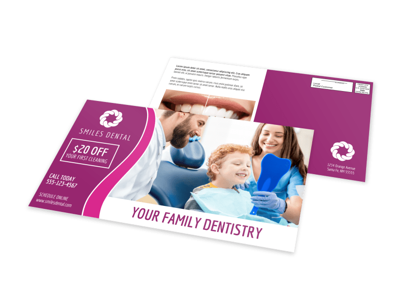 Family Dentistry EDDM Postcard Template Preview 1