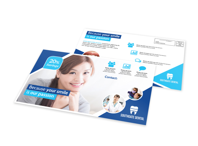 Dental EDDM Postcard Template