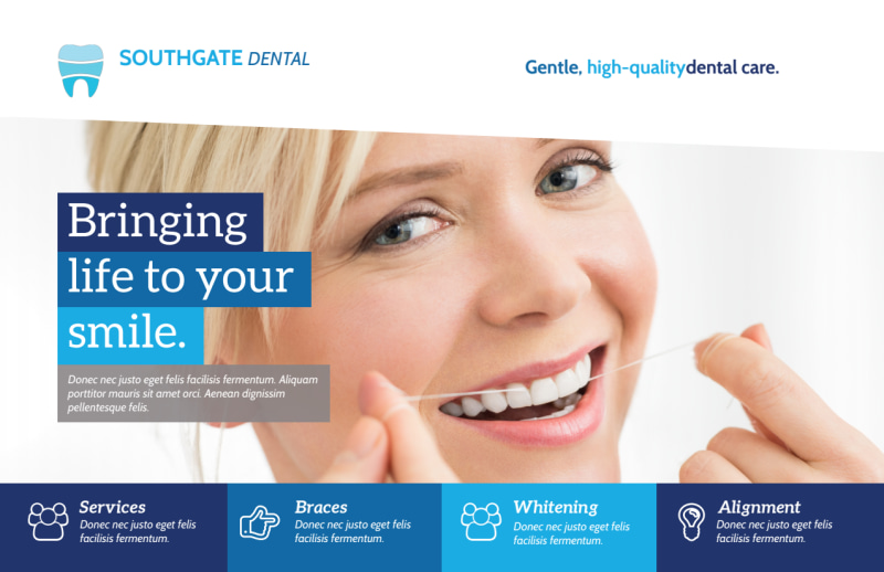 Modern Dental Postcard Template Preview 2