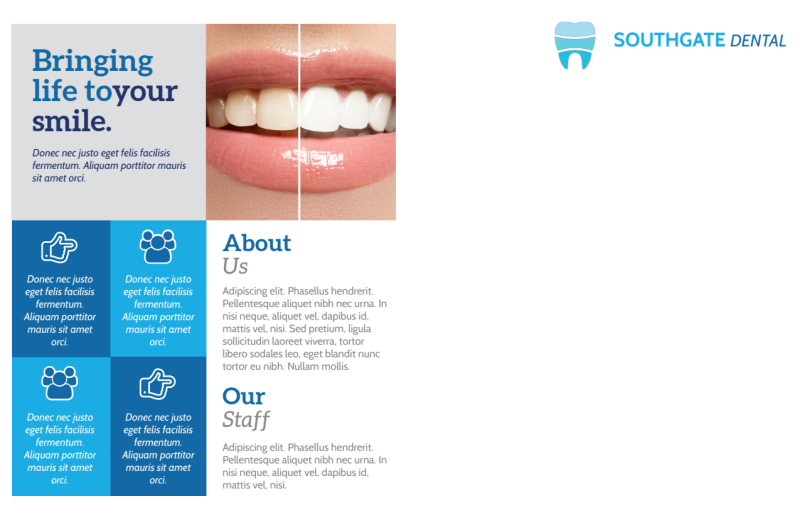 Modern Dental Postcard Template Preview 3