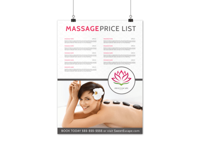 Massage Poster Templates Template Preview