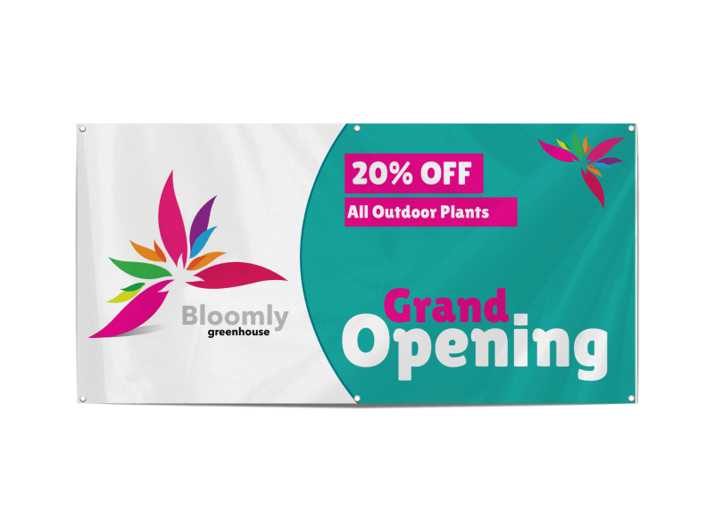 Greenhouse Grand Opening Banner Template Preview 1