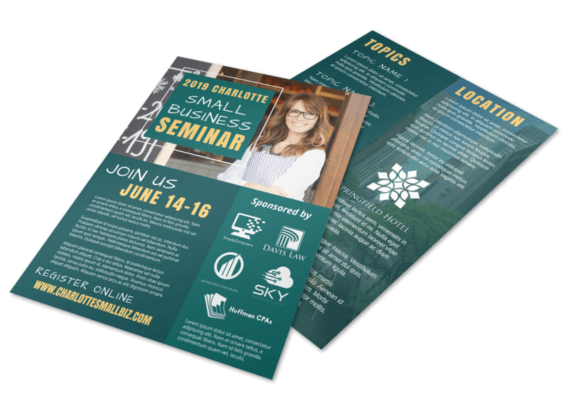 Small Business Seminar Flyer Template Preview 4