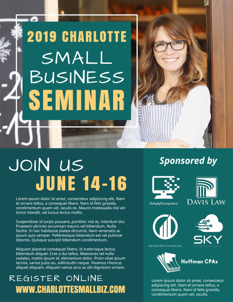 Small Business Seminar Flyer Template Preview 2