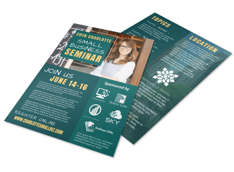 Small Business Seminar Flyer Template Preview 1