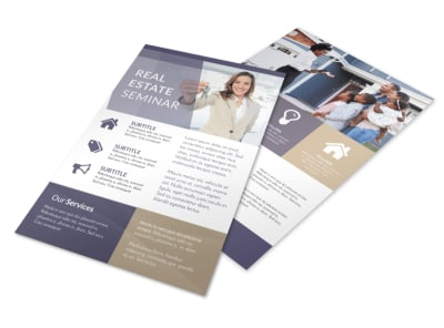 Real Estate Seminar Flyer Template preview