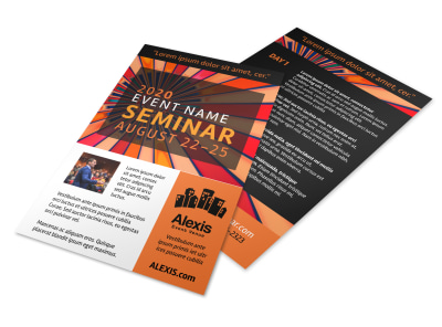 Orange Seminar Flyer Template preview