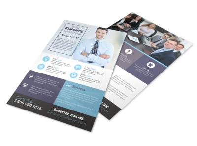 Finance Seminar Flyer Template preview