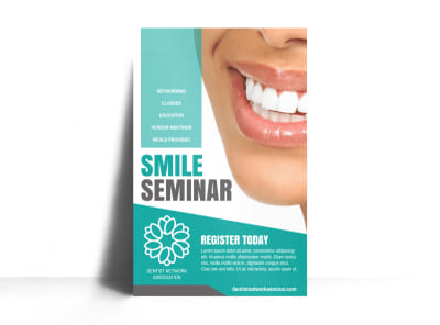 Dental Seminar Poster Template