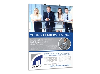 Leaders Seminar Poster Template preview