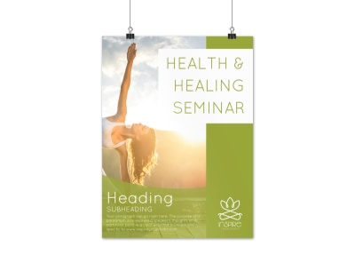 Health Seminar Poster Template preview