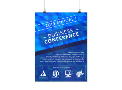 Annual Business Conference Poster Template preview