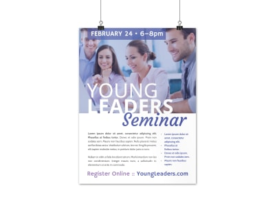 Young Leaders Poster Template preview