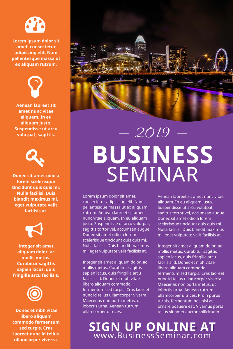 Business Seminar Poster Template Preview 2