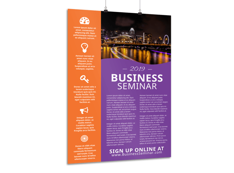 Business Seminar Poster Template Preview 1