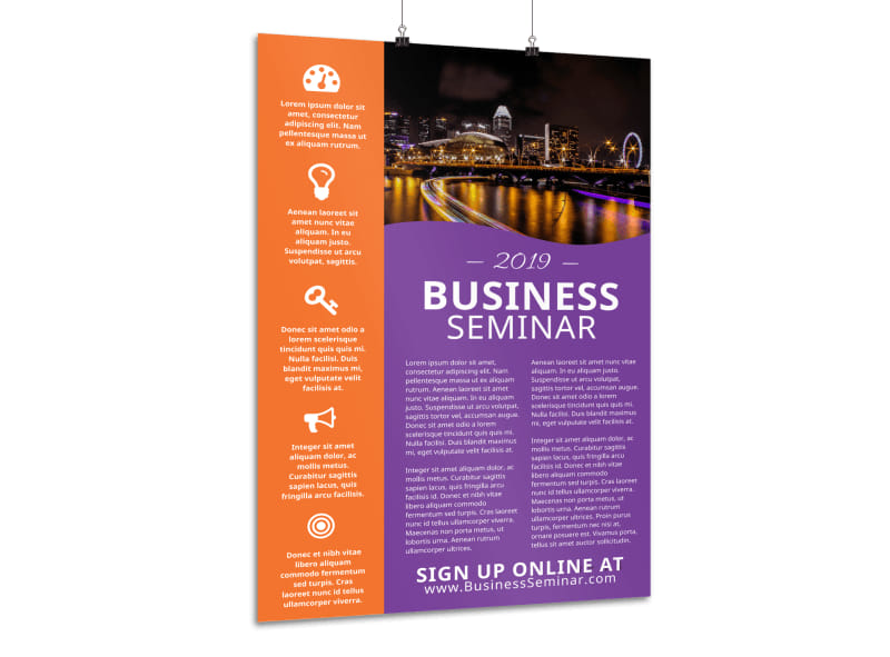 Business Seminar Poster Template Preview 3