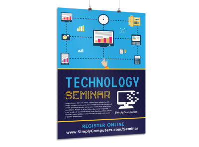 Tech Seminar Poster Template preview