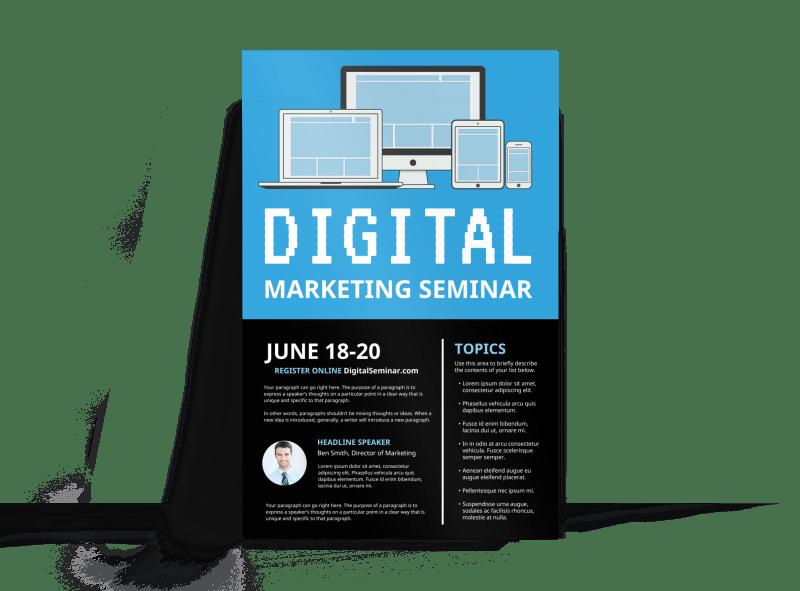 Digital Marketing Seminar Poster Template Preview 1