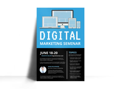 Digital Marketing Seminar Poster Template preview